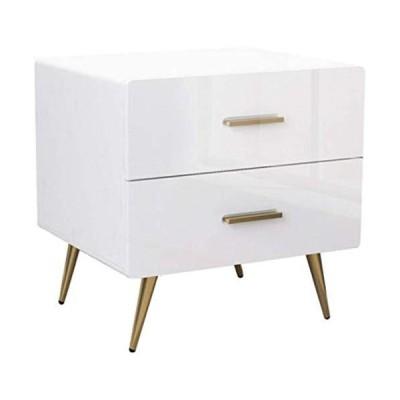 [新品]Bedside Cabinet Bedside Tables with Metal Legs, Chest of Drawers Bedside Tables Living Room End Tables for Household Side Table