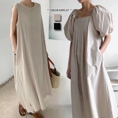 春夏の新作/韓国のファッションロングシャツの夏のシャツのワンピースの大サイズ/長袖 スタンドカラー 立ち襟 シャツワンピ 無地