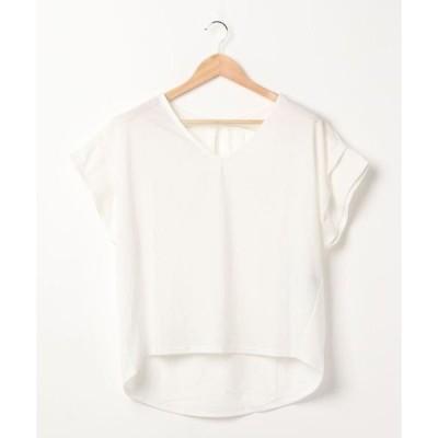tシャツ Tシャツ 両Vドルマンカットソー