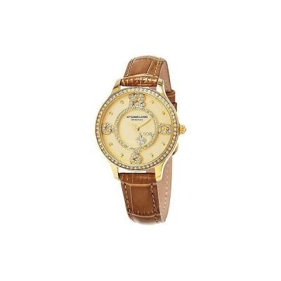 ストゥーリングオリジナル腕時計Stuhrling Original レディース 760.04 Symphony クォーツ Beige レザー ストラップ 腕時計