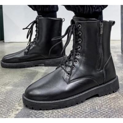レース ハイチューブ ブリティッシュスタイル マーティンブーツ ハイトップ 旅行 革靴