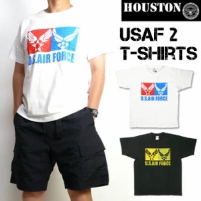 HOUSTON ヒューストン メンズ Tシャツ 半袖ミリタリーTシャツ USAF2 21504
