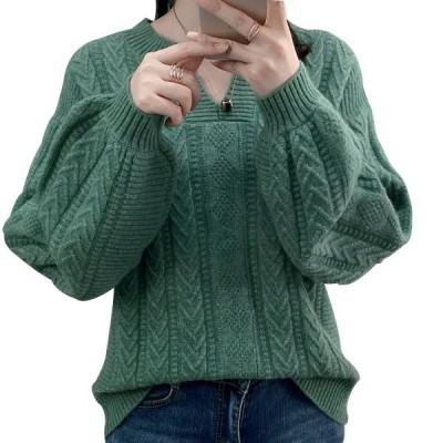 ニット 韓国 キーネック 学校 ケーブル編み ニットプルオーバー 無地 ゆったり 秋冬 通勤 秋服  着痩せ お洒落 ニットトップス