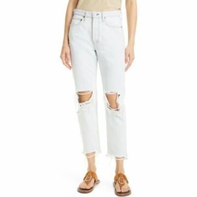 ラグandボーン RAG and BONE レディース ジーンズ・デニム ダメージ加工 ボトムス・パンツ Maya Ripped High Waist Raw Hem Ankle Jeans