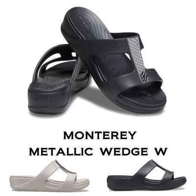 【クロックス crocs レディース】monterey metallic wedge モントレー メタリック ウェッジ /ウィメン オフィス 事務