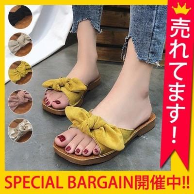 サンダル レディース 履きやすい 幅広 ぺたんこ 歩きやすい おしゃれ 大きいサイズ フラット^bo-581^