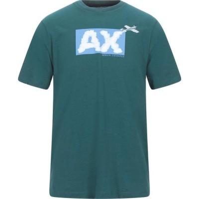 アルマーニ ARMANI EXCHANGE メンズ Tシャツ トップス t-shirt Green