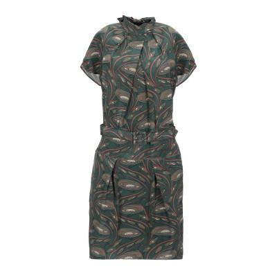 GUGLIELMINOTTI ミニワンピース&ドレス ダークグリーン 42 シルク 100% ミニワンピース&ドレス