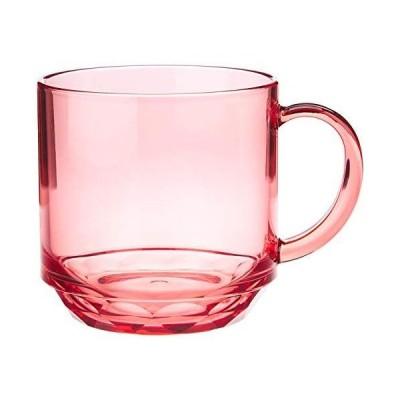 マグカップ コップ コーヒーカップ レッド 赤 340ml 食洗機対応 キャンプ向け 耐熱100度 割れにくい グランピング トライタン素材