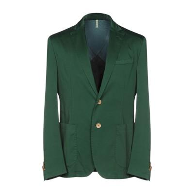 DOMENICO TAGLIENTE テーラードジャケット グリーン 54 コットン 97% / ポリウレタン 3% テーラードジャケット