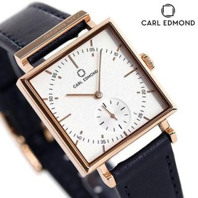 カールエドモンド CARL EDMOND レディース 腕時計 北欧 シンプル ミニマリズム CEG2911-BLR18 グラニット 29mm ホワイト×ブルー