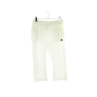 【中古】アディダス adidas パンツ クロップド 総柄 L 白 ホワイト /CK レディース 【ベクトル 古着】