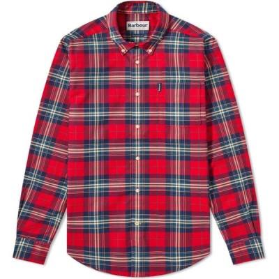 バブアー Barbour メンズ シャツ トップス highland check 20 tailored shirt Crimson