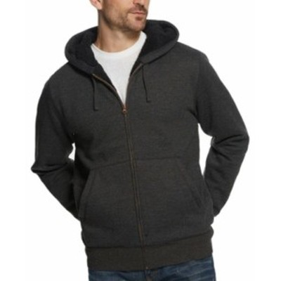 HEATHER  ファッション トップス Weatherproof Mens Sweater Heather Black Size 2XL Full-Zip Hooded