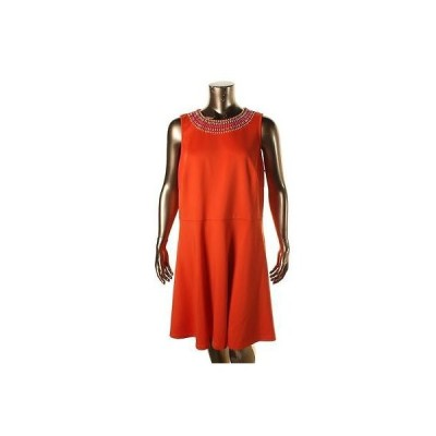 ドレス ワンピース Spense Spense 7923 レディース オレンジ ノースリーブ Beaded Party Cocktail ドレス Plus 22W BHFO
