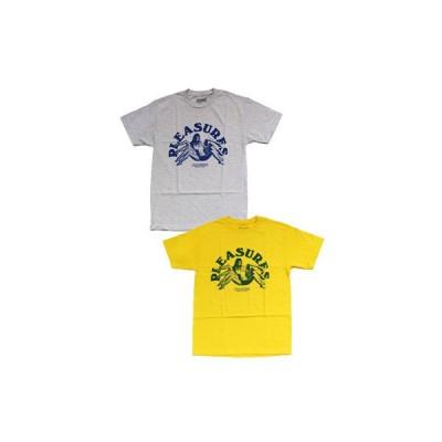 プレジャーズ PLEASURES グラフィックプリントTシャツ M-XLサイズ イエロー グレー トップス 半袖 カットソー クルーネック LOGIC T-SHIRT-2.COLOR-