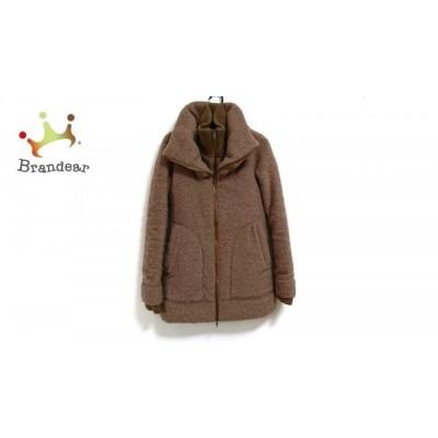 【冬物クリアランス】リエンダ rienda コート サイズM レディース ブラウン 冬物/ダブルジップ         スペシャル特価 20191130