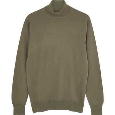 ヴィラオ Villao レディース ニット・セーター トップス Army green roll-neck cashmere jumper Green