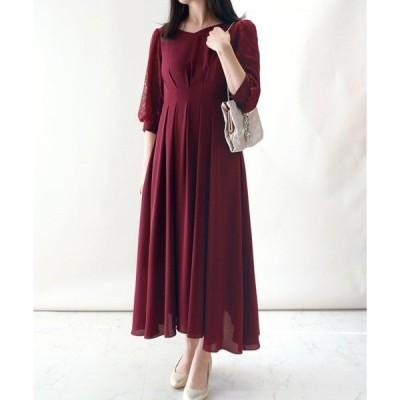 ドレス 袖レース ドレス/ワンピース