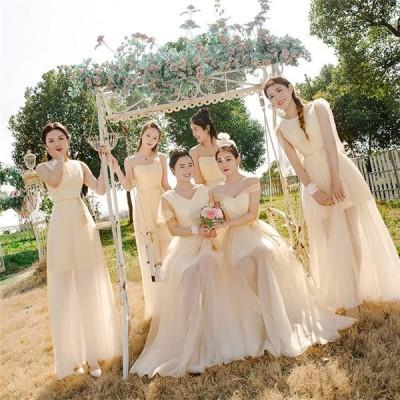 ドレス ブライズメイド服 花嫁 ウェディングドレス 締上げタイプ ワンピース 花嫁の介添えドレス ロングドレス プリンセスドレスda401c0c0w5