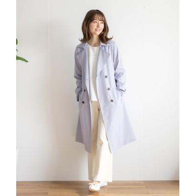 White Collection / 【2021SS】カルゼボンディング・美ライントレンチコート WOMEN ジャケット/アウター > トレンチコート
