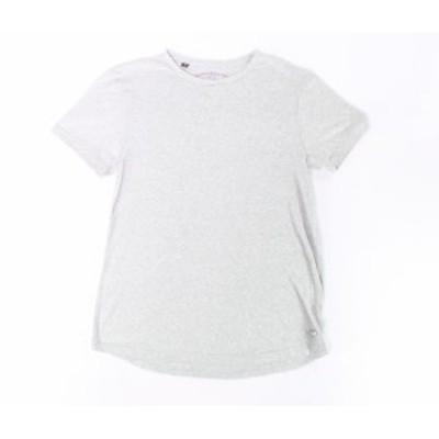 buffalo バッファロー ファッション トップス Buffalo David Bitton NEW Gray Mens Size Medium M Crewneck Tee Shirt
