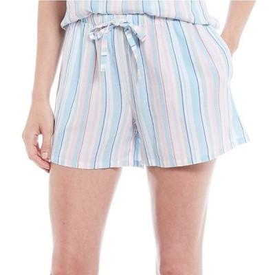 ノッティビアンチェ レディース ハーフパンツ・ショーツ ボトムス Striped Print Woven Sleep Shorts