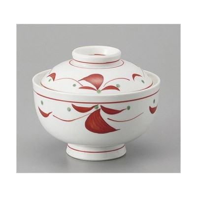 円菓子 赤絵つなぎ円菓子碗 [12.2 x 10cm] 強化 料亭 旅館 和食器 飲食店 業務用
