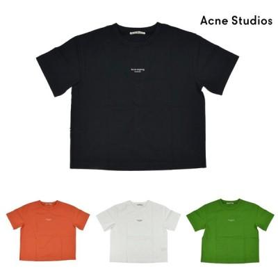 【300円クーポン】【セール】アクネストゥディオズ Tシャツ 半袖 ブラック オプティック ホワイト レディース