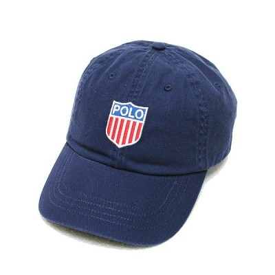 POLO RALPHLAUREN ポロ ラルフローレン キャップ 6パネルキャップ 帽子 POLO SHIELD CAP メンズ レディース ストラップバック ロゴ ネイビー