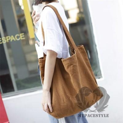 ショルダーバッグ レディース ギフト/プレゼント シンプル キャンバス 通学 通勤 ショッピングバッグ エコバッグ