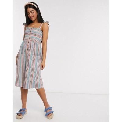 ブレーブソウル レディース ワンピース トップス Brave Soul elena striped cami mini dress Stripe combo