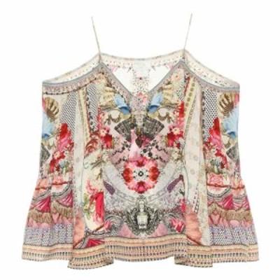 カミーラ Camilla レディース トップス Embellished printed silk top Montmartre Heart