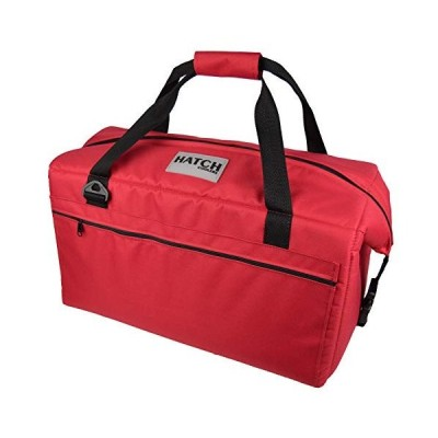 Hatch Coolers Canvas Soft Cooler with High-Density Insulation, Made in USA, 36-Can, Red 並行輸入品