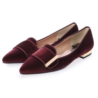 シューズラウンジ アウトレット shoes lounge OUTLET フラットシューズ 7049104BOベ (ボルドー)