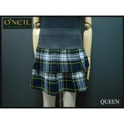 O'NEIL OF DUBLIN スカート・GB10□オニールオブダブリン/フリルスカート/緑 紺 白/チェック柄/ティアード@¨