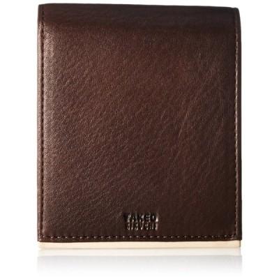 Sale[タケオキクチ] 財布 パイピングカラーシリーズ チョコ One Size