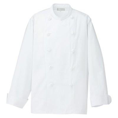 アイトス:調理白衣 コックコート(男女兼用)ホワイト L 861022