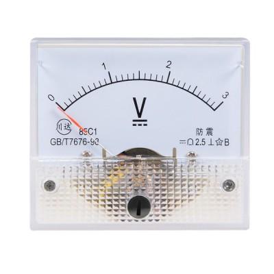uxcell 電圧計 アナログパネル電圧ゲージ 誤差マージン2.5% DC 0-3V 85C1