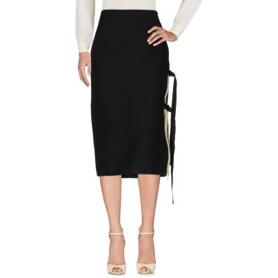 ヌメロ ヴェントゥーノ N°21 7分丈スカート ブラック 44 コットン 100% 7分丈スカート