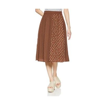 ナチュラルビューティーベーシック スカート 〈ウォッシャブル〉ミックスドットプリントスカート レディース 017-9120431 ブラウン×