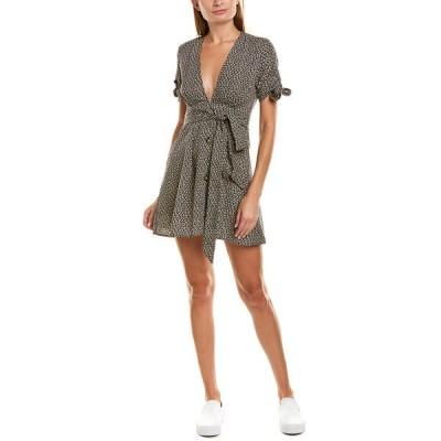 シティースリーク ワンピース トップス レディース city sleek Tie-Waist Mini Dress grey