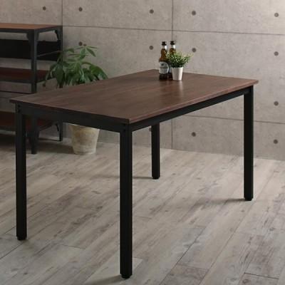ダイニングテーブル単品 幅120cm 奥行き75 高さ70cm 天然木パイン無垢材ヴィンテージデザインダイニング 4人用