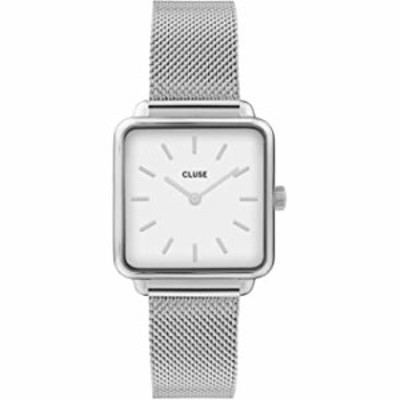 CLUSE Women's Quartz Watch with Stainless Steel Strap, Silver, 16 (Model: CW0101207003)