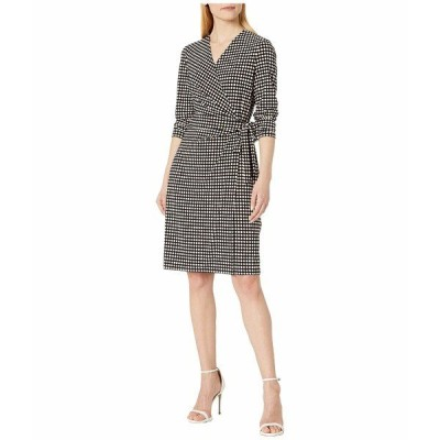 アンクライン ワンピース トップス レディース Pearly Wrap Dress Anne Black/First Blush Combo