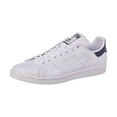 adidas Originals mens Stan Smith Leather Sneaker, Core White/Core White/Dark Blue, 10.5 US
