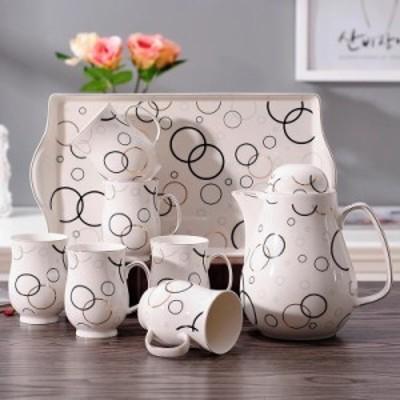 上品ティーカップ&ソーサー 6客セット 花柄.陶器.コップ マグカップ ティーセット 花柄