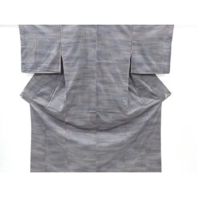 リサイクル 未使用品 霞模様織り出し暈し手織り紬着物