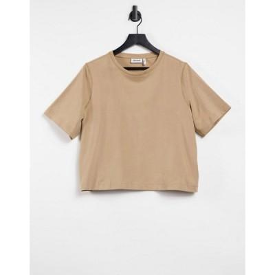 ウィークデイ Weekday レディース Tシャツ トップス Trish T-Shirt In Camel キャメル