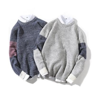 ニットセーター メンズ セーター 長袖 トップス メンズ ニット カジュアル キレイめ 大きいサイズ ゆったり 秋 春  冬